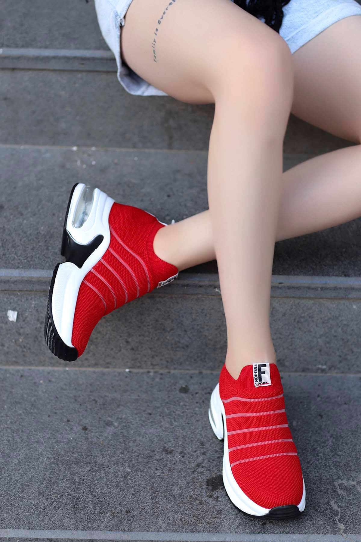 Jason Air Taban Spor Ayakkabı Kırmızı