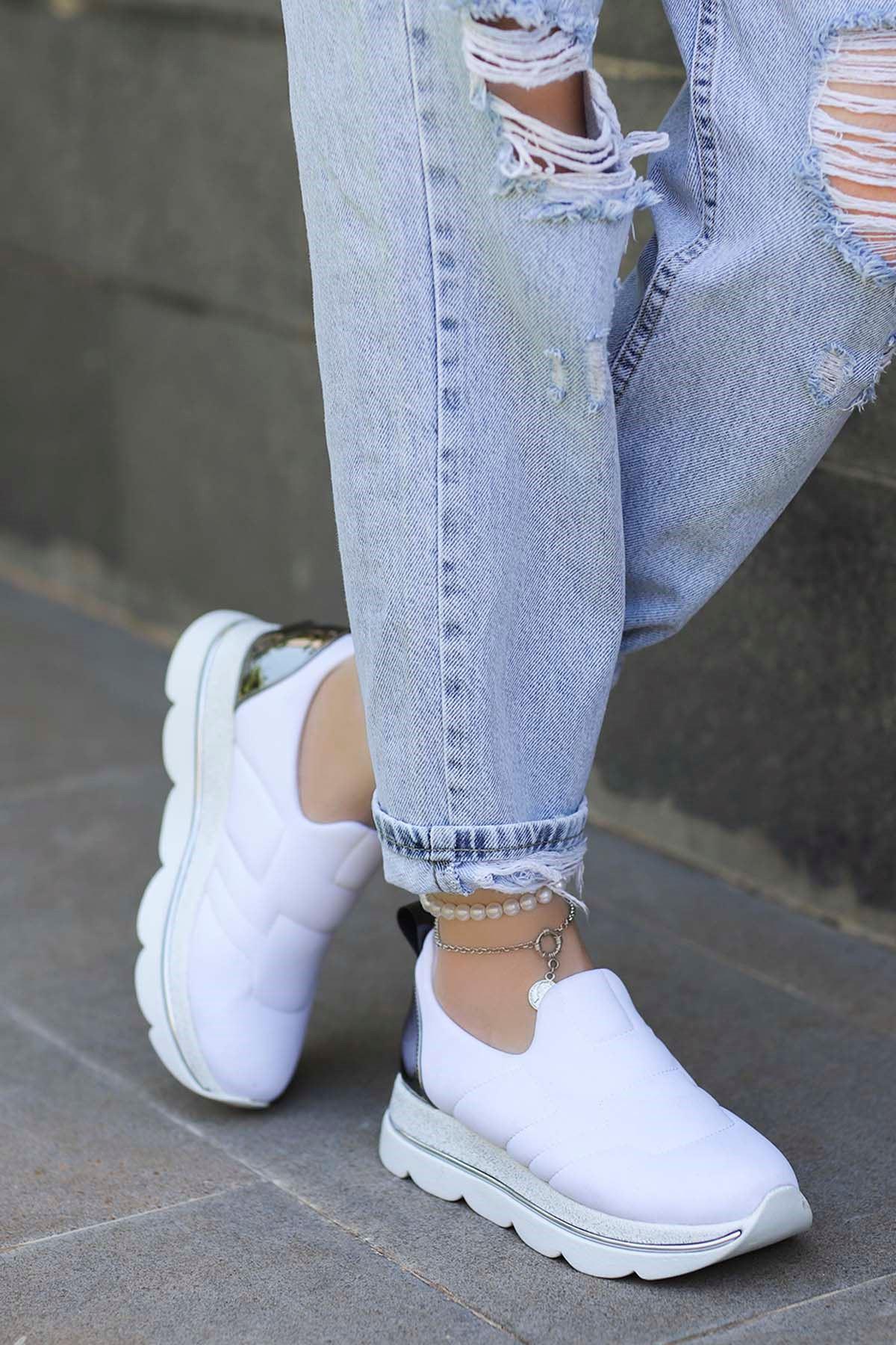 Hector Streç Spor Ayakkabı Beyaz