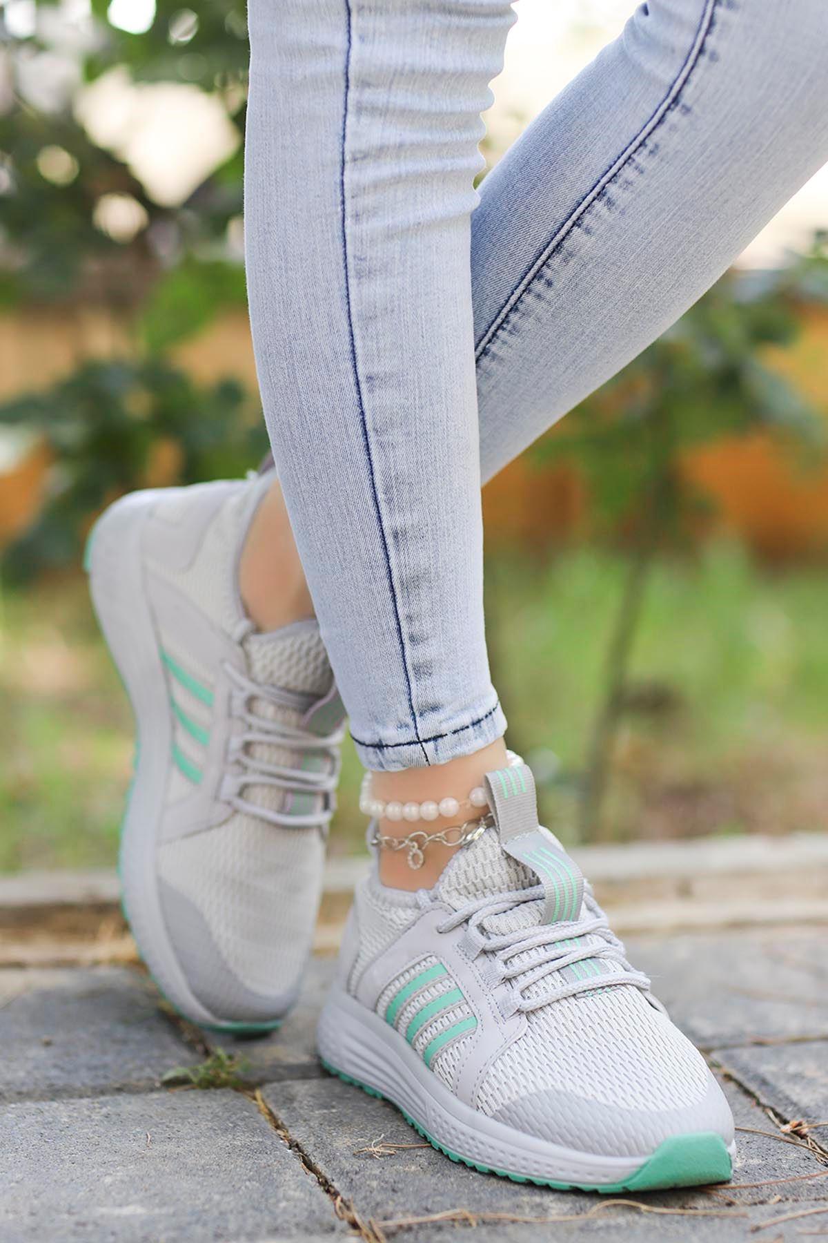 Eliza File Spor Ayakkabı Gri Yeşil