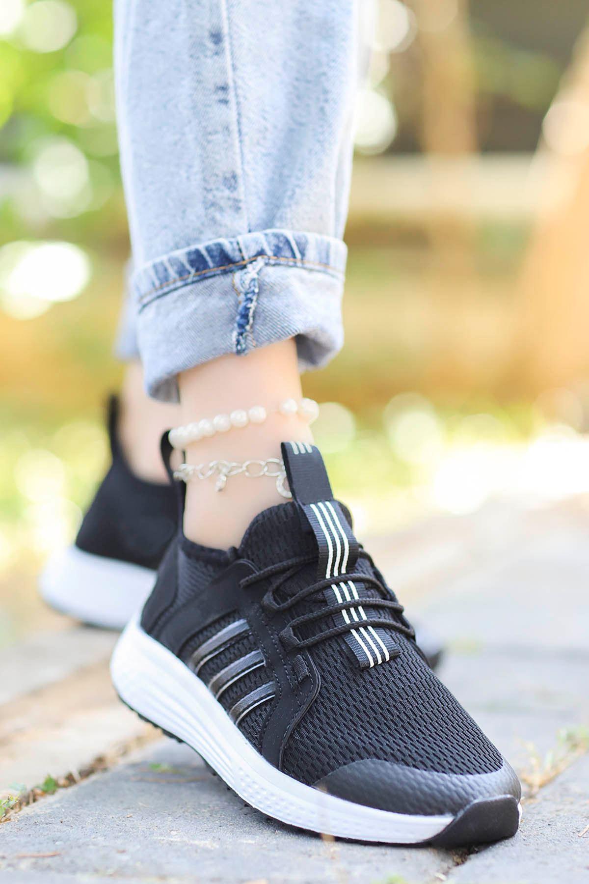 Eliza File Spor Ayakkabı Ful Siyah