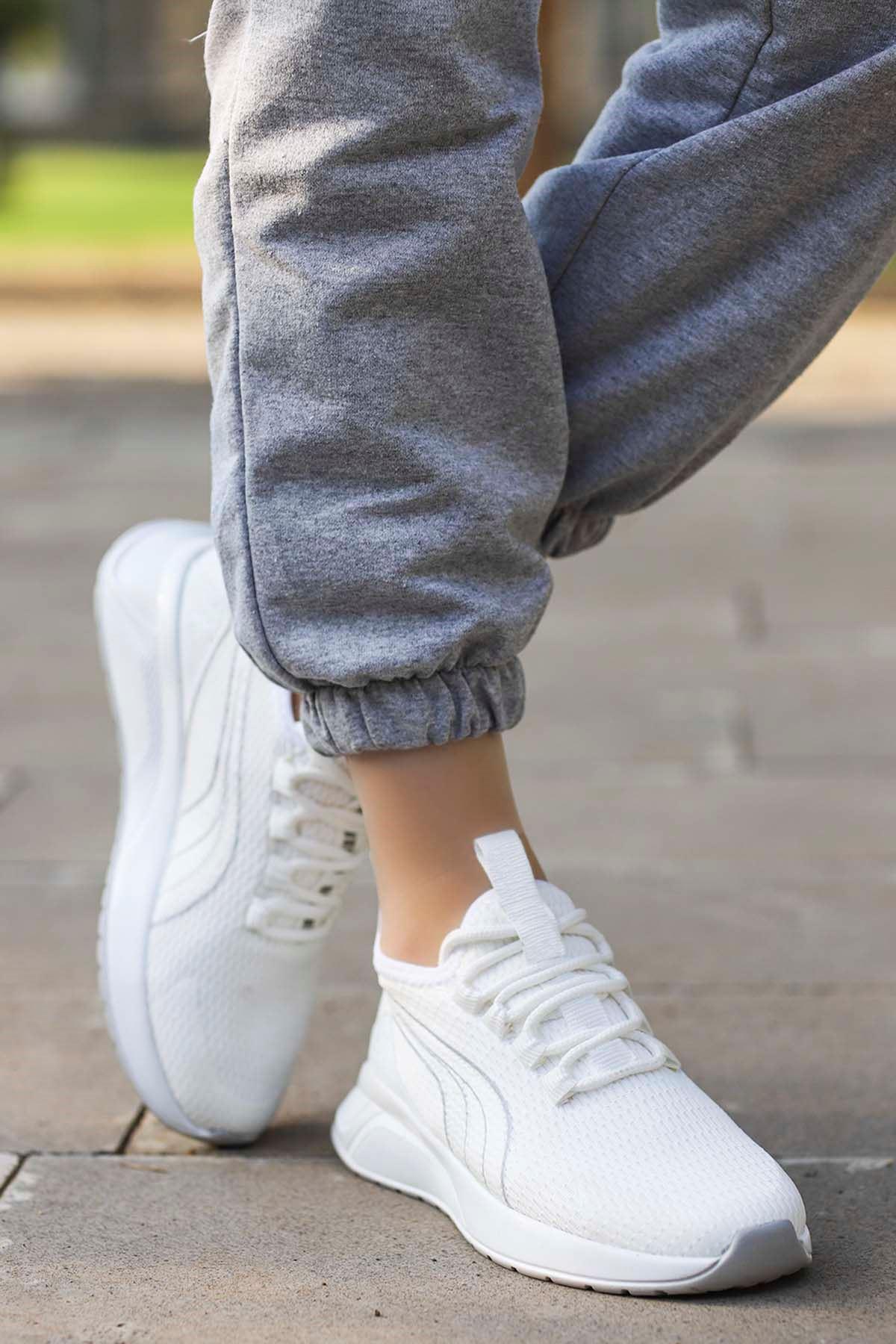 Valeriya File Spor Ayakkabı Ful Beyaz