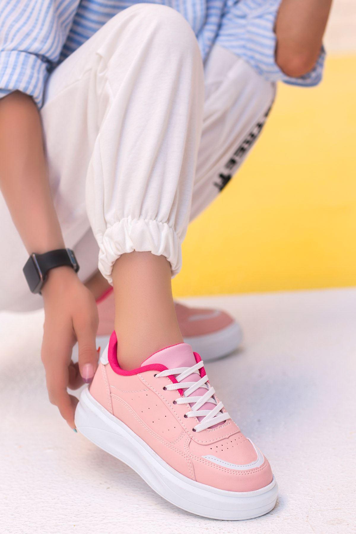 Beatrix Tabanlı Spor Ayakkabı Pudra