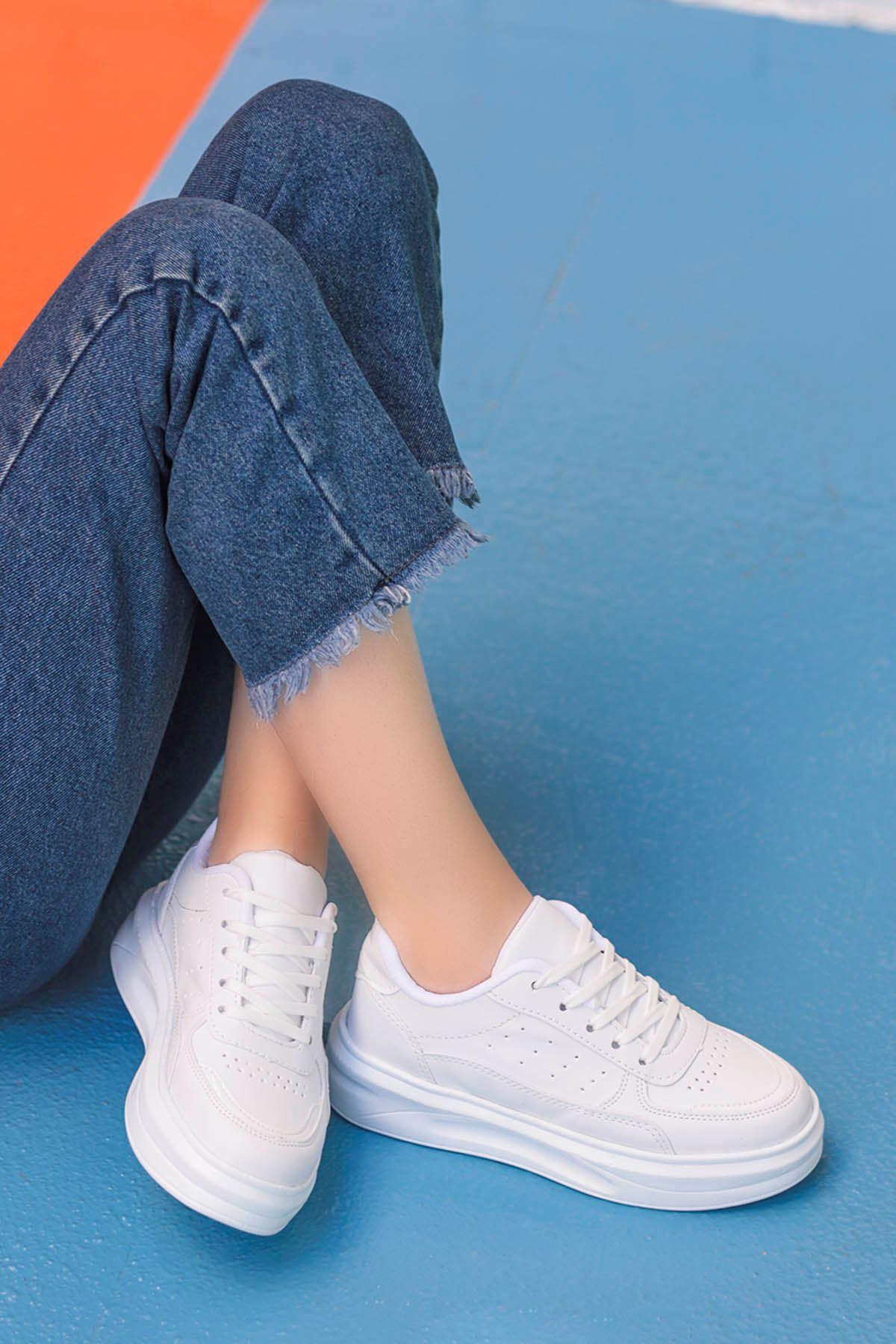 Beatrix Tabanlı Spor Ayakkabı Beyaz