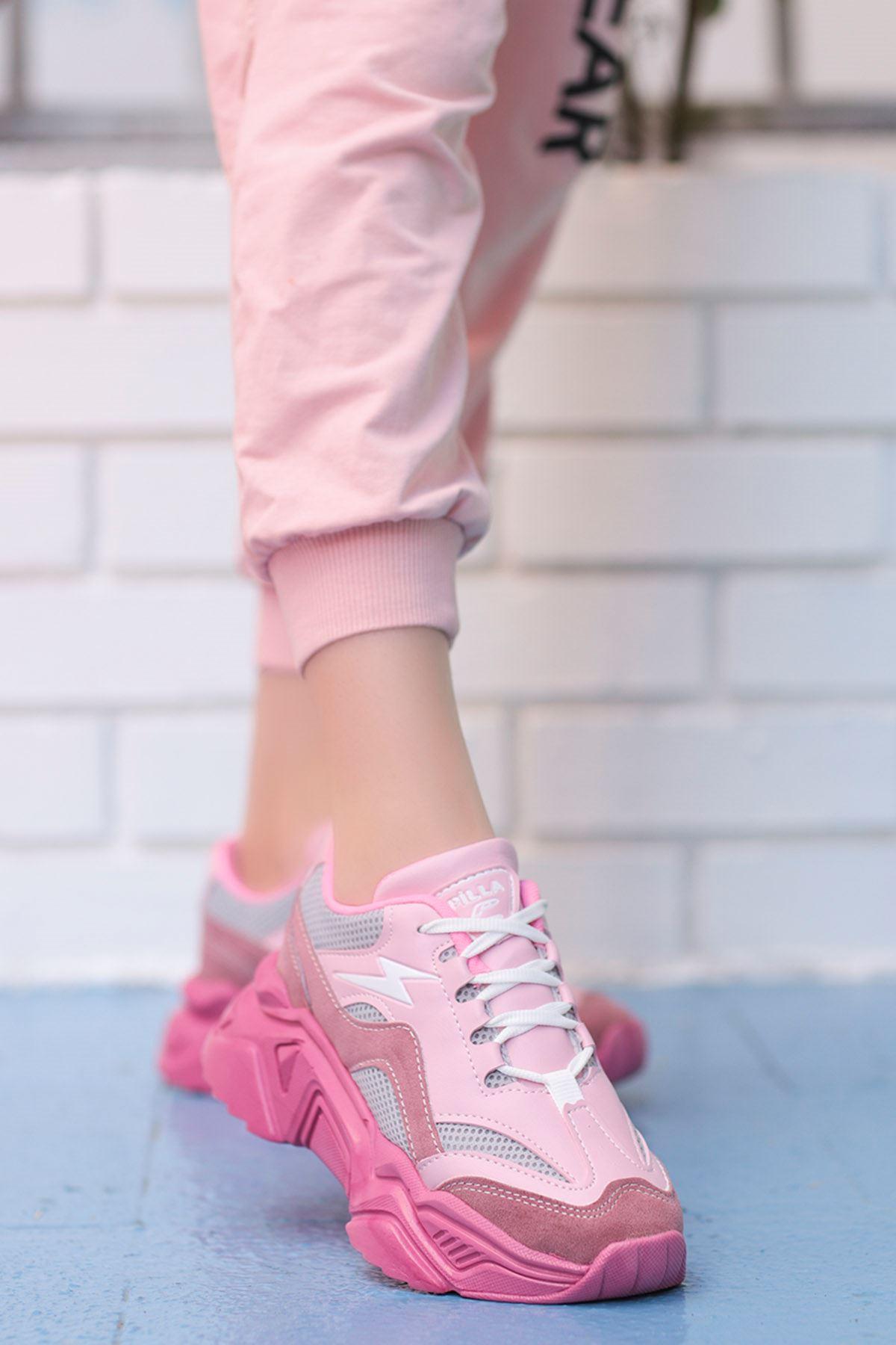 Rosse-Spor Ayakkabı Pudra Fuşya Taban
