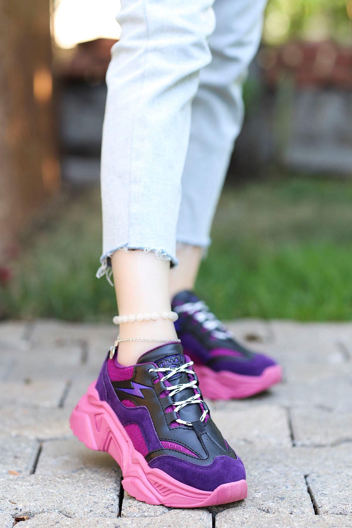 Rosse-Spor Ayakkabı Mor Fuşya Taban