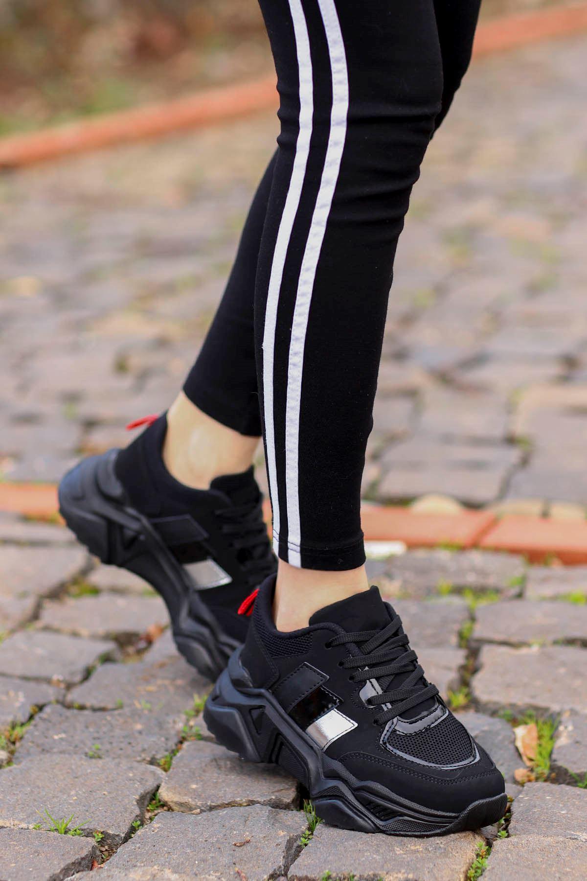 Dali Spor Ayakkabı Siyah Süet Siyah Taban