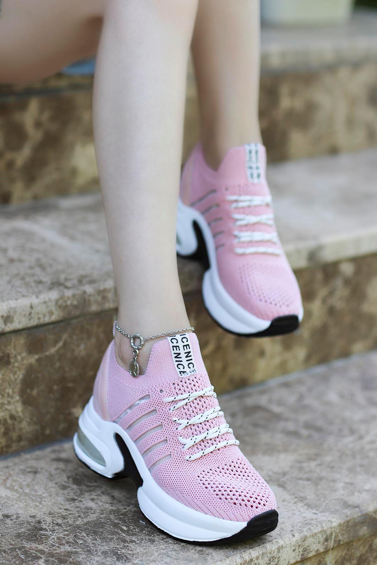 Twist Spor Ayakkabı Pudra