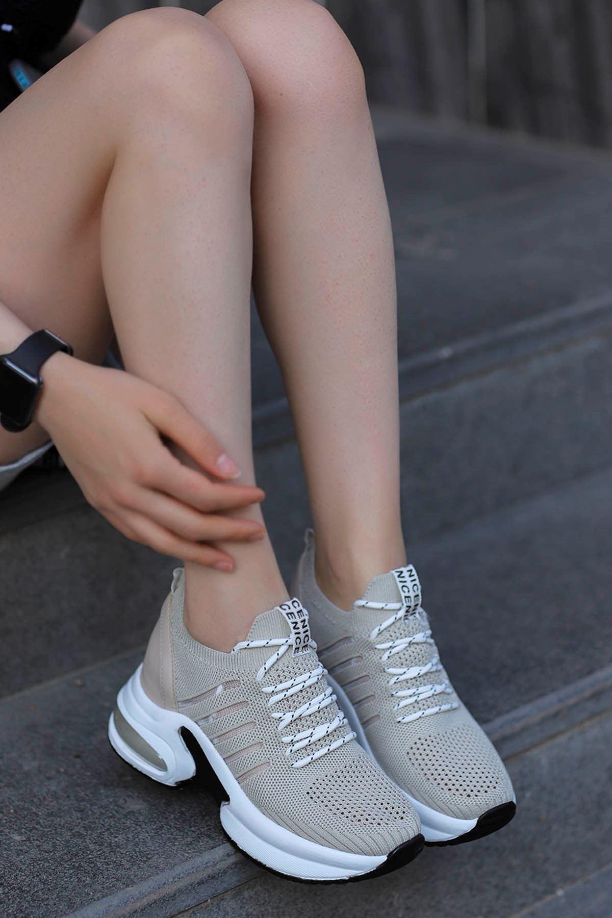 Twist Spor Ayakkabı Bej