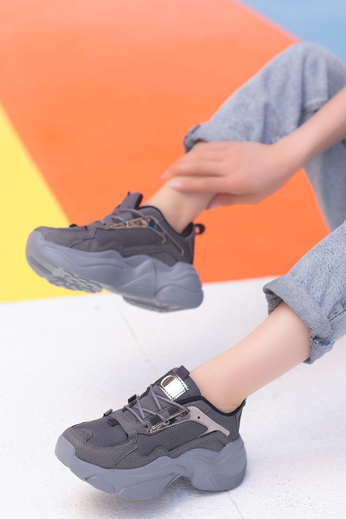 Sidney Tabanlı Spor Ayakkabı Gri