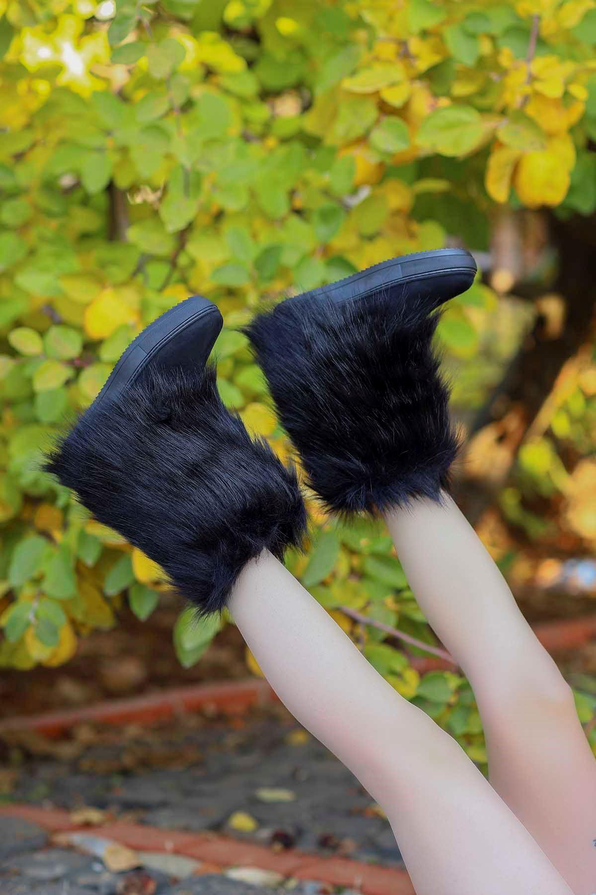 Parker Kürklü Bot Siyah
