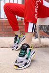 mami-BG Spor Ayakkabı Gri Yeşil