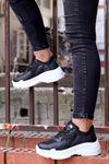 Snz-701 Tabanlı Spor Ayakkabı Siyah Anorak