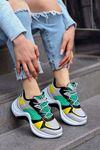 Tny-01 Tabanlı Spor Ayakkabı Sarı Yeşil Gri