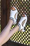 Sng-211 Triko Sandalet Beyaz