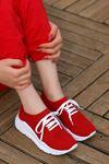 Puli Bağlı Triko Kırmızı